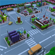 low poly Motherboard in city - 3DOcean Item for Sale