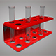 Test Tube With Stand 3D Model - 3DOcean Item for Sale