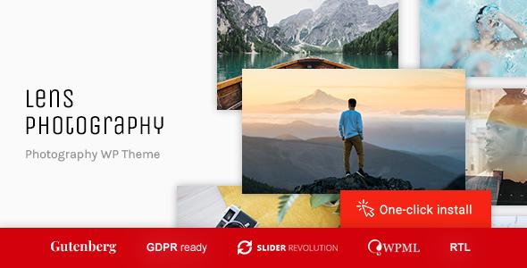 Lens Photography - Portfolio WordPress Theme
