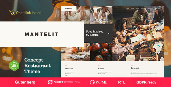 Mantelit - Restaurant WordPress Theme