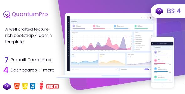 QuantumPro - Bootstrap 4 Dashboard & UI Kit