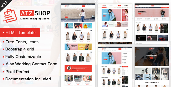 ATZ Shop - Online Shopping Store HTML Template