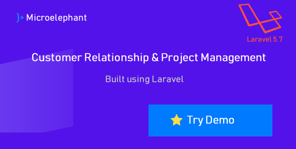 Microelephant - CRM & Project Management System built with Laravel Download