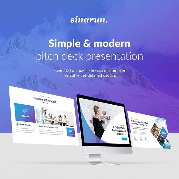 Sinarun Pitch Deck Start Up Powerpoint