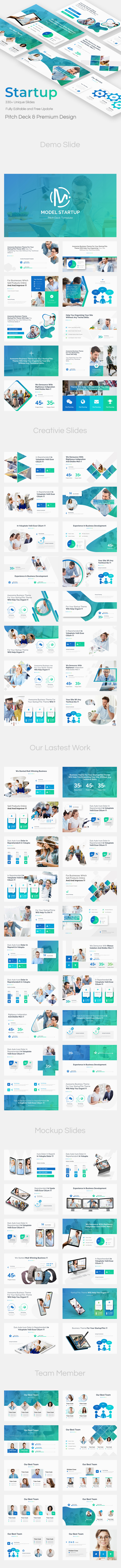 Model Startup Pitch Deck Powerpoint Template