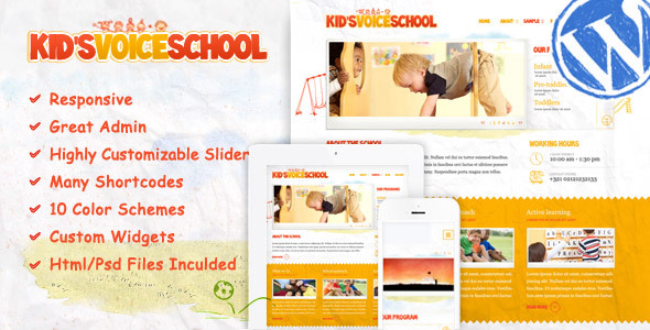 Kids Voice School - Education WordPress Theme