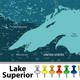 Map of Lake Superior - GraphicRiver Item for Sale