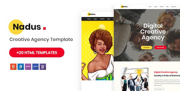 Nadus – Creative Agency HTML5 Template