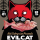 Evil Cat Indie Band Flyer - GraphicRiver Item for Sale