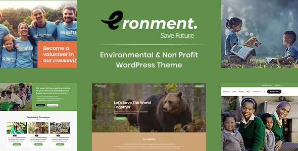 Eronment - Environmental WordPress theme