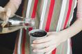 woman hand watering the soil in metal pot - PhotoDune Item for Sale