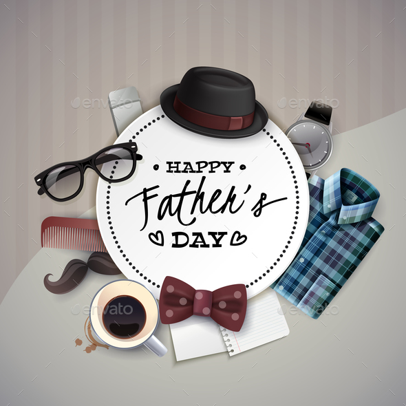Fathers Day Frame Composition