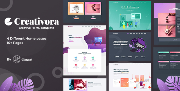 Creativora – Creative Template For Agency And Portfolio