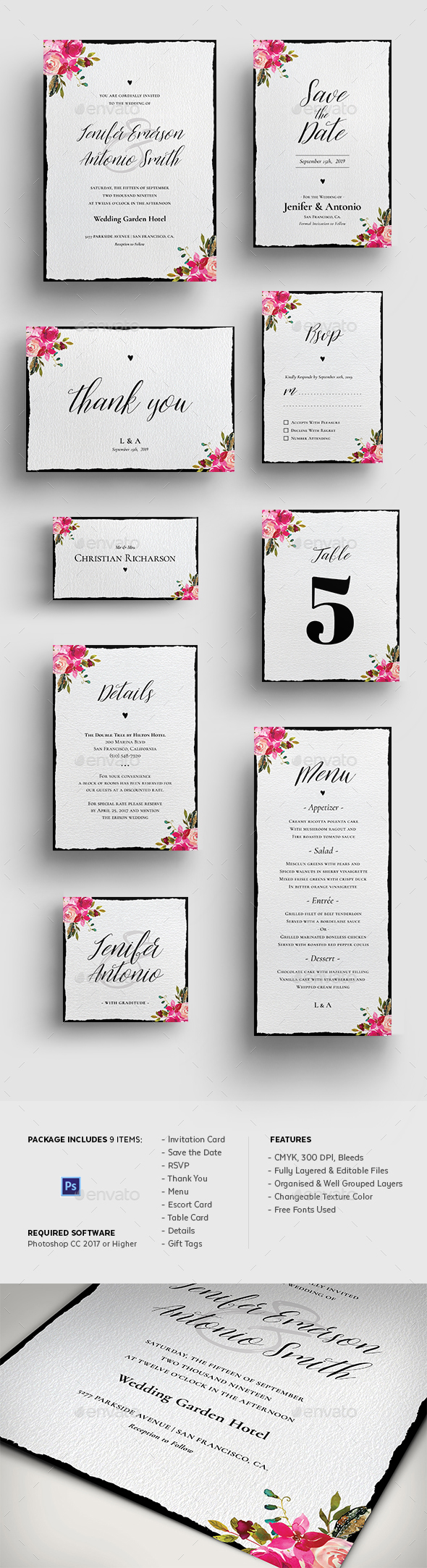 2020's Best Selling Wedding Invitation Templates