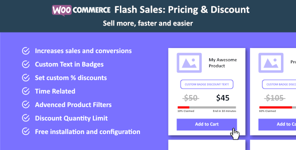 WooCommerce Flash Sales - Increase Black Friday & Cyber Monday Sales