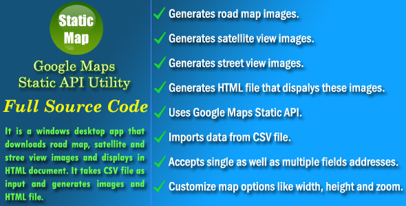 Google Maps Static API Utility - Source Code