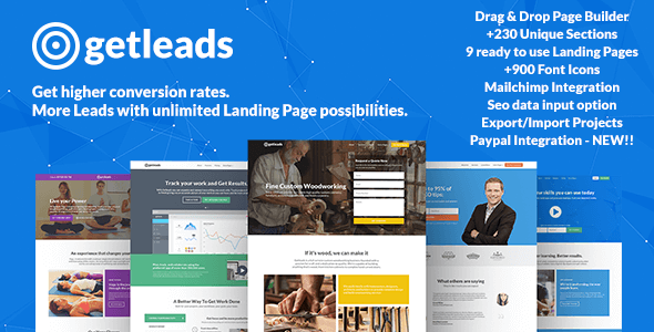 Getleads – Landing Pages Pack with Page Builder