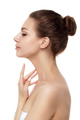 Young beautiful woman touching her neck - PhotoDune Item for Sale
