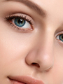 Portrait of young beautiful woman touching her face - PhotoDune Item for Sale