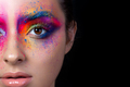Close up view of face with multicolored makeup - PhotoDune Item for Sale