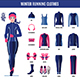 Winter Running Clothes Set for Woman in Flat Style - GraphicRiver Item for Sale