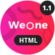 Weone - One Page Parallax HTML5 - ThemeForest Item for Sale