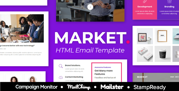 Market Agency – Multipurpose Responsive Email Template for Agency – StampReady + Mailster & Mailchim