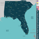 Alabama, Florida, Georgia and South Carolina - GraphicRiver Item for Sale