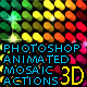 3D Effect Mosaic Photoshop Actions - GraphicRiver Item for Sale