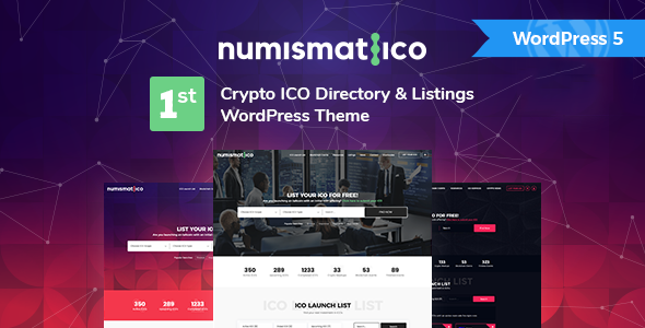 Numismatico - Cryptocurrency Directory & Listings WordPress Theme
