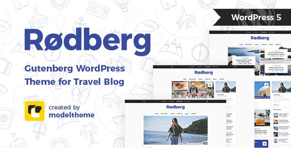 Rodberg - Travel Blog WordPress Theme Gutenberg Compatible