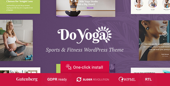 Do Yoga - Fitness Studio & Pilates Club WordPress Theme
