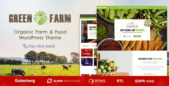 Green Farm - Organic Food WordPress Theme
