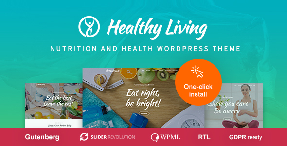 Healthy Living - Nutrition and Wellness WordPress Theme