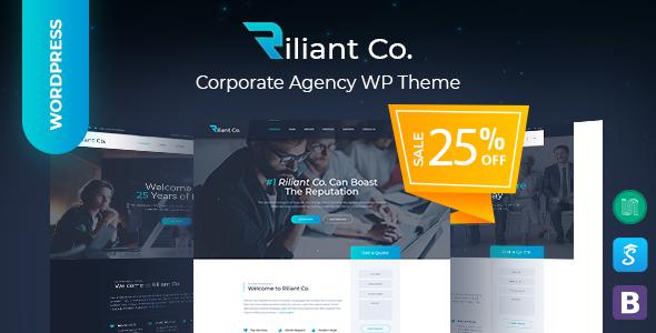 Riliant - Corporate Business Agency WordPress Theme