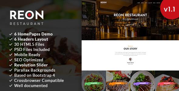 Reon | Restaurant HTML5 Template