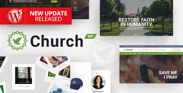 ChurchWP - A Contemporary WordPress Theme for Churches