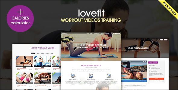 LOVEFIT – Fitness Video Training WordPress Theme Free Download