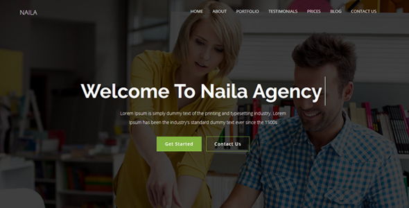 Naila - One Page MultiPurpose WordPress Theme