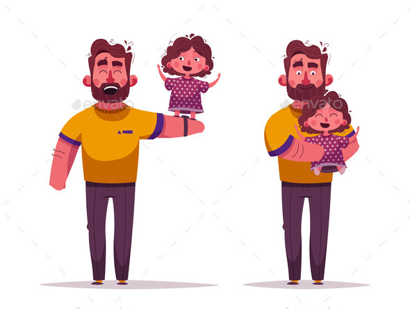 Dad and Daughter Together