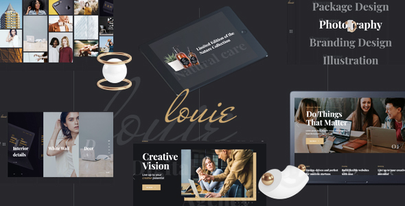 Louie - Modern Portfolio Theme for Agencies
