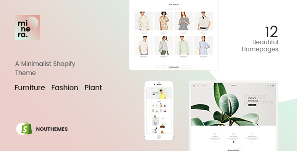 Minera - Minimalist  Responsive Multipurpose Sections Drag & Drop Builder Shopify Theme