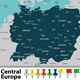Map of Central Europe - GraphicRiver Item for Sale
