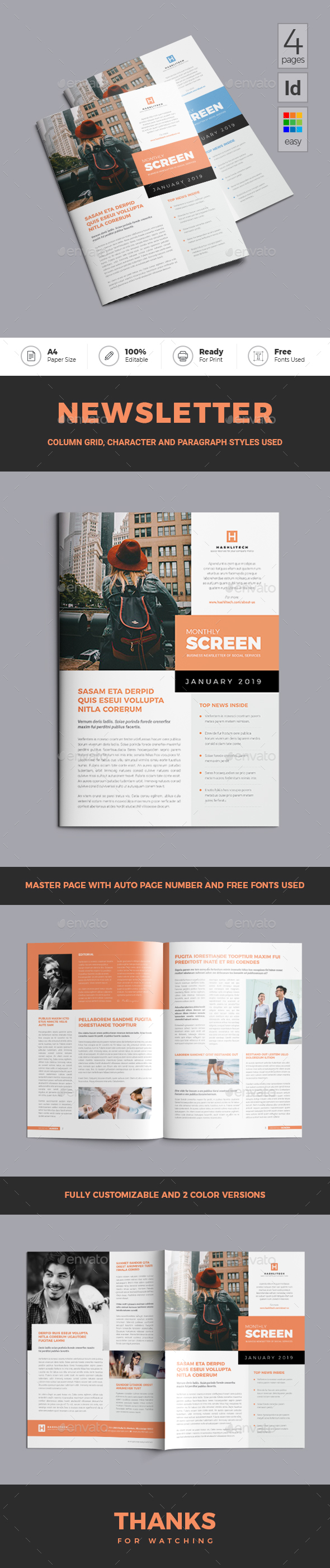 Publisher Template Newsletter Templates From Graphicriver