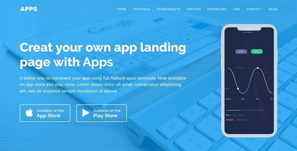 APPS - Responsive App Landing WordPress Theme