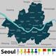 Map of Seoul South Korea - GraphicRiver Item for Sale