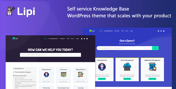 Lipi - Self Service Knowledge Base and Creative WordPress Theme