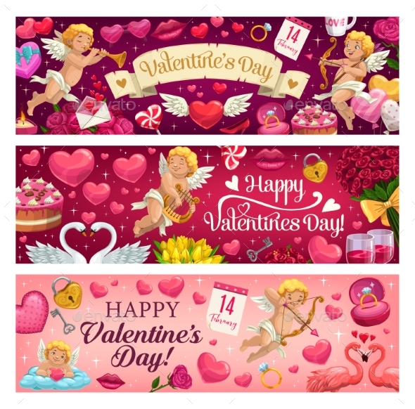 Valentines Day Holiday Banners