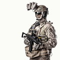 Special operations fighter studio shoot on white - PhotoDune Item for Sale