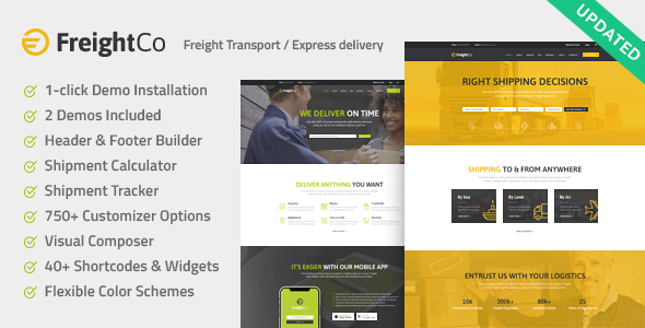 FreightCo | Transportation & Warehousing Shipping WordPress Theme